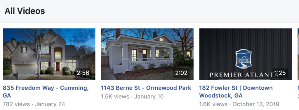 video home listings on facebook